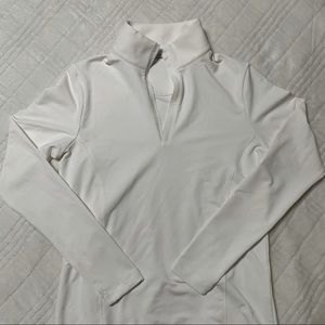 White Quarter-Zip Long Sleeve